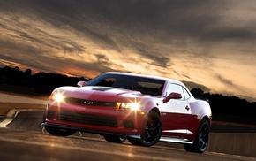 cars, camaro, sportcar, wheels, headlights