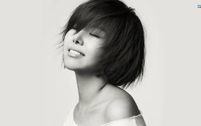 корейское, девушка, улыбка, Азия