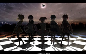 anime, Sakura Kyoko, Tomoe Mami, Mahou Shoujo Madoka Magica, Kaname Madoka, Miki Sayaka