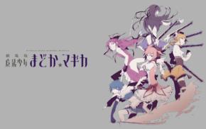 anime, Mahou Shoujo Madoka Magica, Akemi Homura, Sakura Kyouko, Miki Sayaka, anime girls