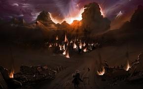 anime, Full Metal Alchemist, Elric Edward, burning