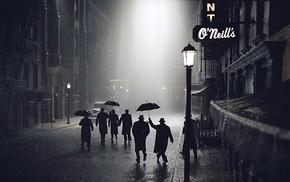 night, rain