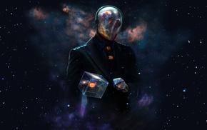 абстрактные, звезды, космос