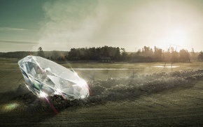 field, diamonds, abstract, crystal, photo manipulation