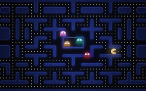 Blinky, Pacman, Clyde, Inky, Pinky