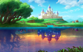 splitting, reflection, elk, castle, The Legend of Zelda