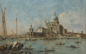 stunner, city, Italy, painting, painting