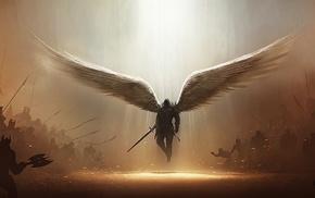Tyrael, Diablo, archangel, fantasy art