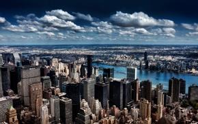 city, skyscraper, HDR, New York City