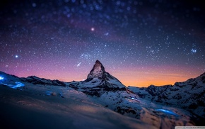 stars, horizon, landscape