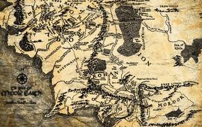 Властелин колец, Земля, карта