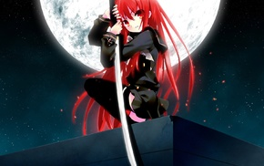 red eyes, anime girls, Shana, Shakugan no Shana