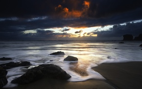 water, sea, nature, clouds, beach