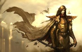 fantasy art, elves, Disciples 3, video games, armor, digital art