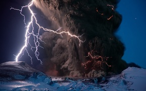 ash, volcano, lightning, National Geographic