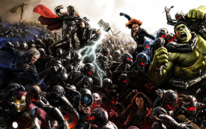 Thor, Hulk, heroes, Avengers Age of Ultron, Black Widow, The Avengers