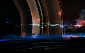 космос, концептуальное искусство, космический корабль, произведение искусства, фантастическое исскуство