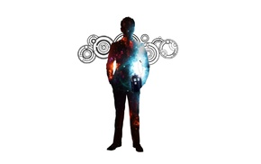 silhouette, Tenth Doctor, The Doctor, David Tennant, Doctor Who, TARDIS