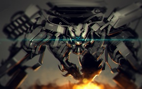 robot, concept art, war, mech, artwork, fantasy art