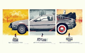 DeLorean, Back to the Future, panels, movies, car