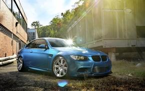 БМВ, синие машины, машина