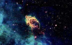 космос, звезды, туманность