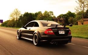 road, black, cars, amg, Mercedes