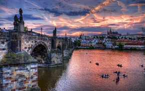 river, building, Czech Republic, cityscape, Prague