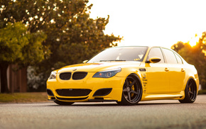sunset, sky, cars, tuning, BMW