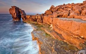 stones, water, sky, stunner, ocean