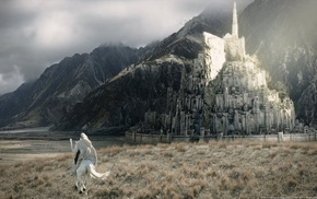 building, Gandalf, The Lord of the Rings, Minas Tirith, city