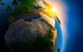 арт, евразия, солнце, фотошоп, африка, красивые