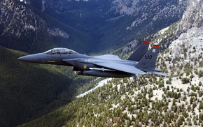 background, mountain, airplane, fly, jet fighter