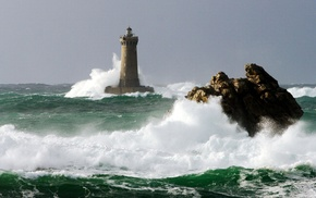stunner, element, storm, stones, lighthouse