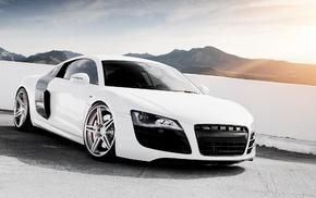 cars, Audi, road, sky