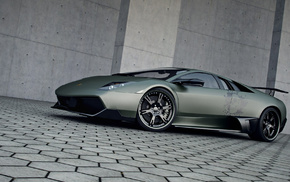 gray background, sportcar, wheels, Lamborghini, cars
