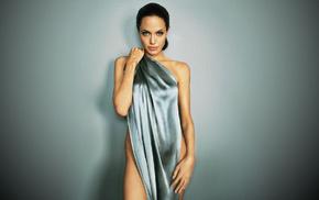 fashion model, girls, posing, gray background, actress