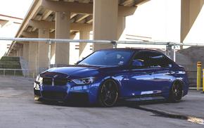 cars, wheels, BMW, blue, tuning