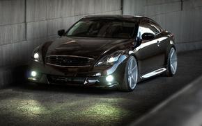 cars, supercar, parking, black, headlights