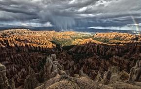 rain, rocks, light, mountain, nature