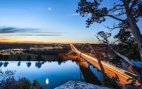 небо, река, освещение, красота, вечер, красивые