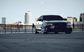 supercar, cars, Audi, city, black