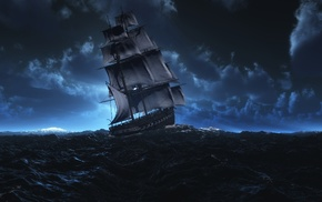 3D, painting, sea, photoshop, art