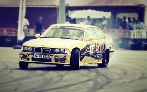 дрифт, старые автомобили, БМВ, машина, гонки
