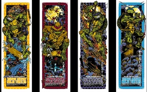 comics, Teenage Mutant Ninja Turtles, konami, comic art, IDW