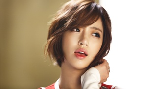 Asian, Eunjung, face, T, ara, K