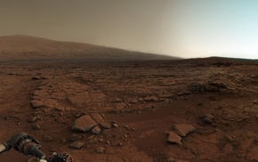 landscape, Curiosity, Mars, space