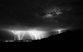 nature, background, stunner, city, lightning