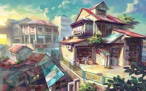 anime, Malaysia, city, house