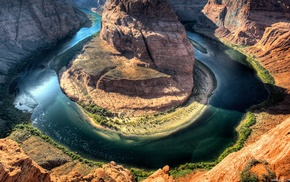 river, nature, canyon, Horseshoe Canyon